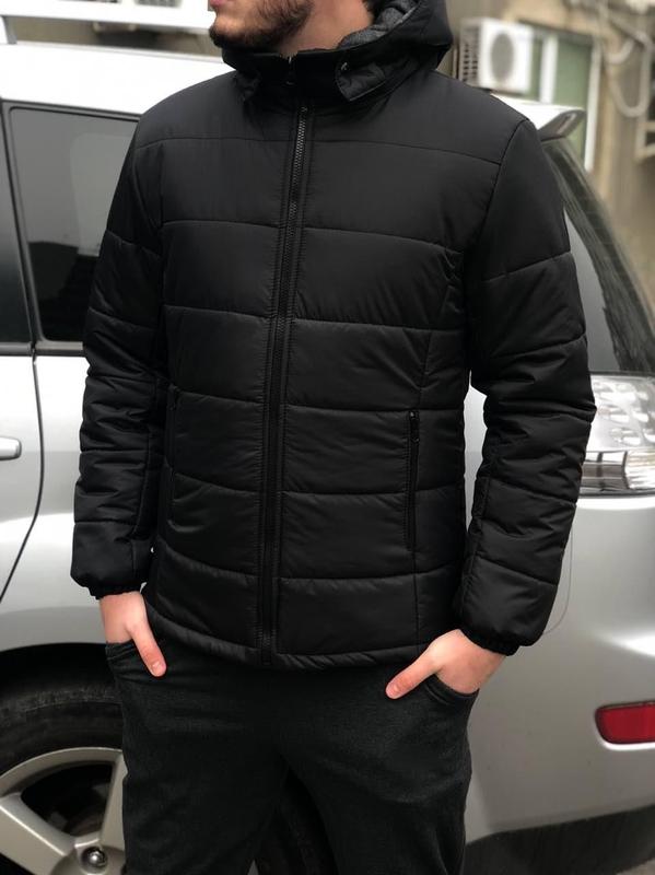 Куртка мужская зимняя пуховик - Фото 7