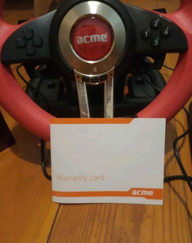 Игровой руль acme rs racing wheel