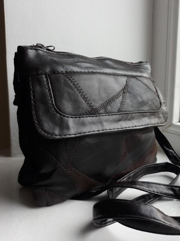 Маленькая стильная кожаная сумка. - Фото 2