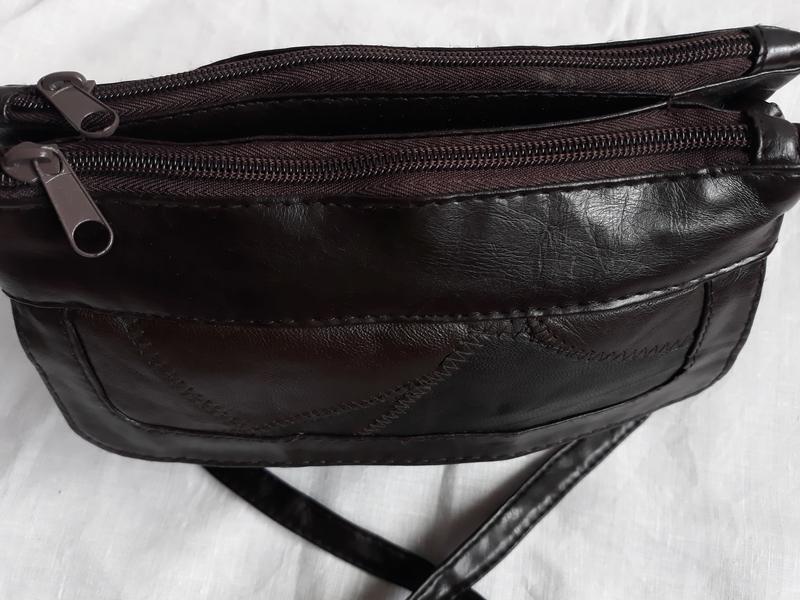 Маленькая стильная кожаная сумка. - Фото 4