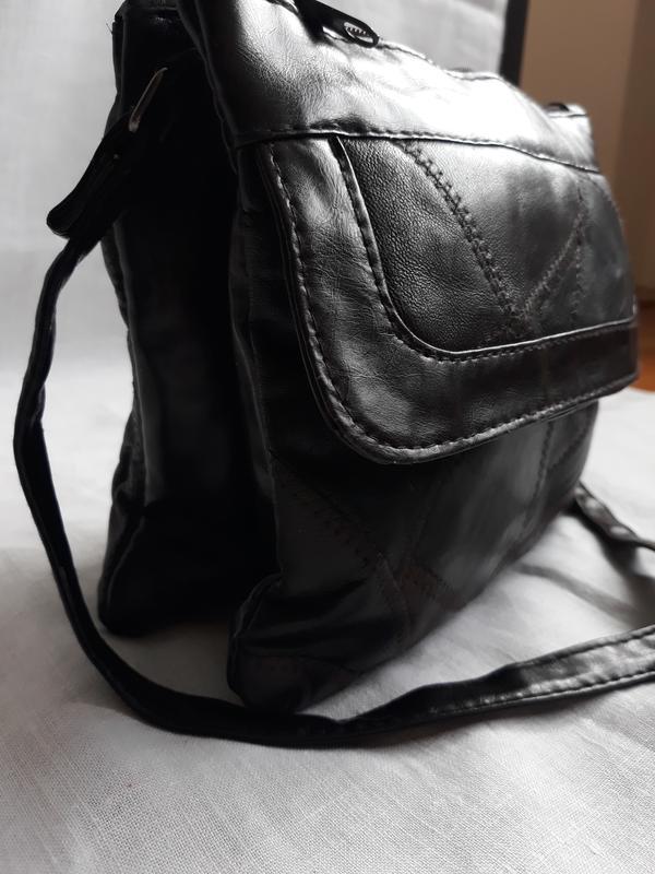 Маленькая стильная кожаная сумка. - Фото 5