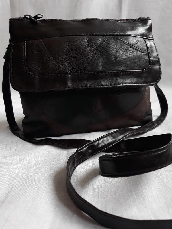 Маленькая стильная кожаная сумка. - Фото 6