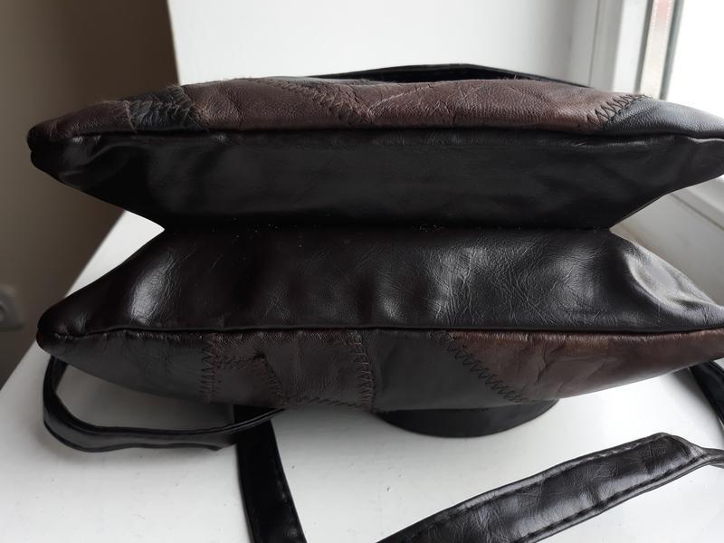 Маленькая стильная кожаная сумка. - Фото 8