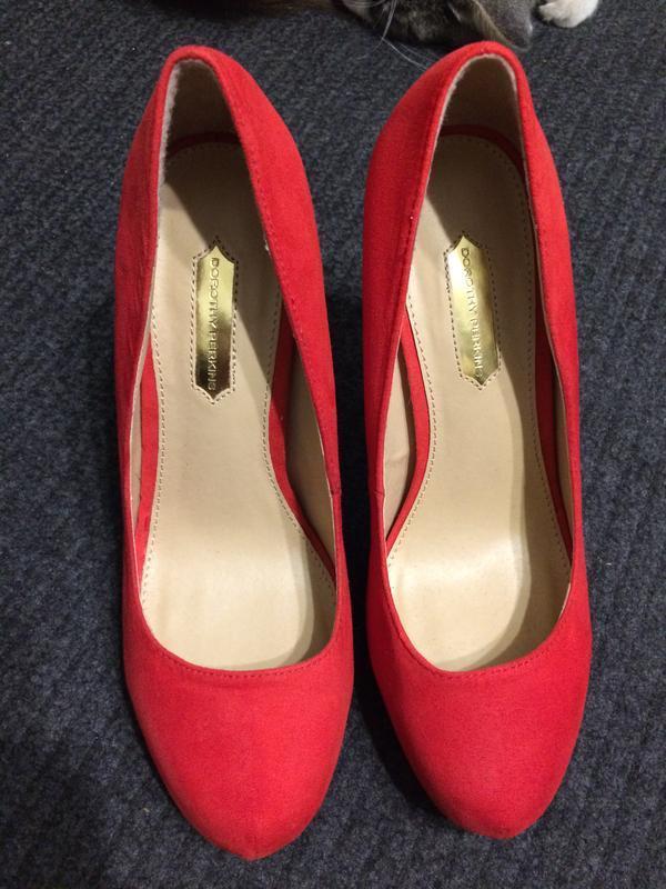Dorothy perkins замшевые туфли красные - Фото 3
