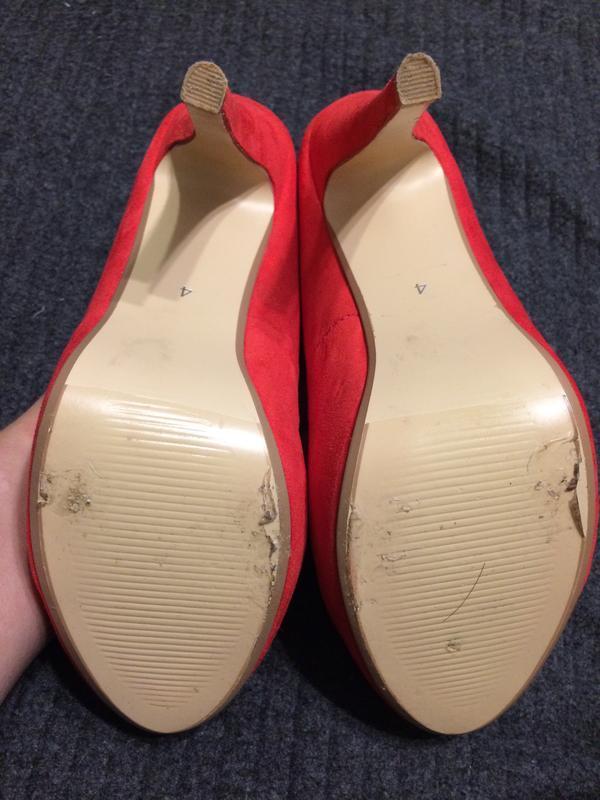 Dorothy perkins замшевые туфли красные - Фото 4