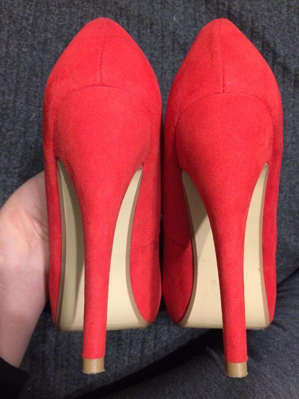 Dorothy perkins замшевые туфли красные - Фото 5
