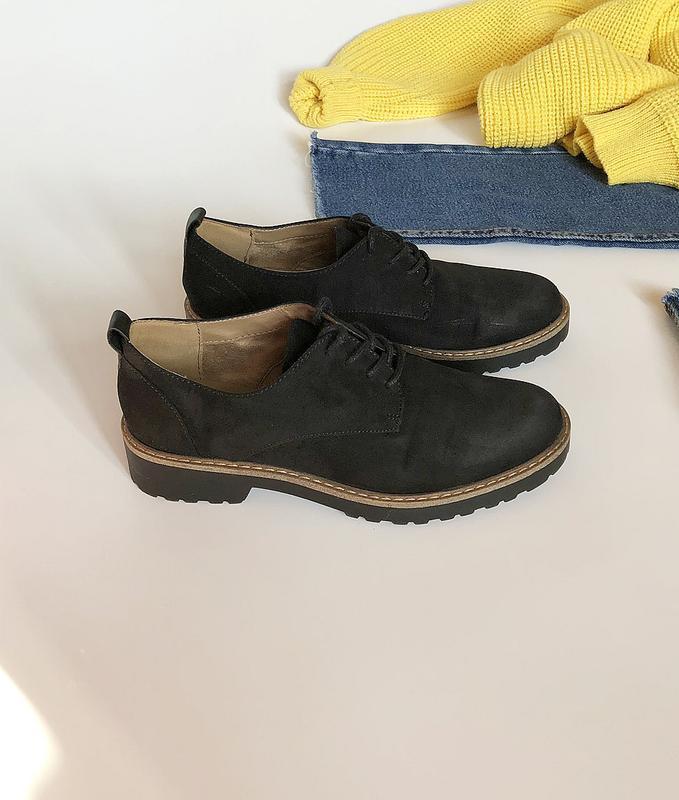 Обалденные натуральные замшевые туфли graceland (лоферы, дерби)