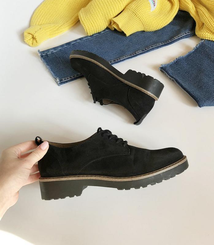 Обалденные натуральные замшевые туфли graceland (лоферы, дерби) - Фото 2