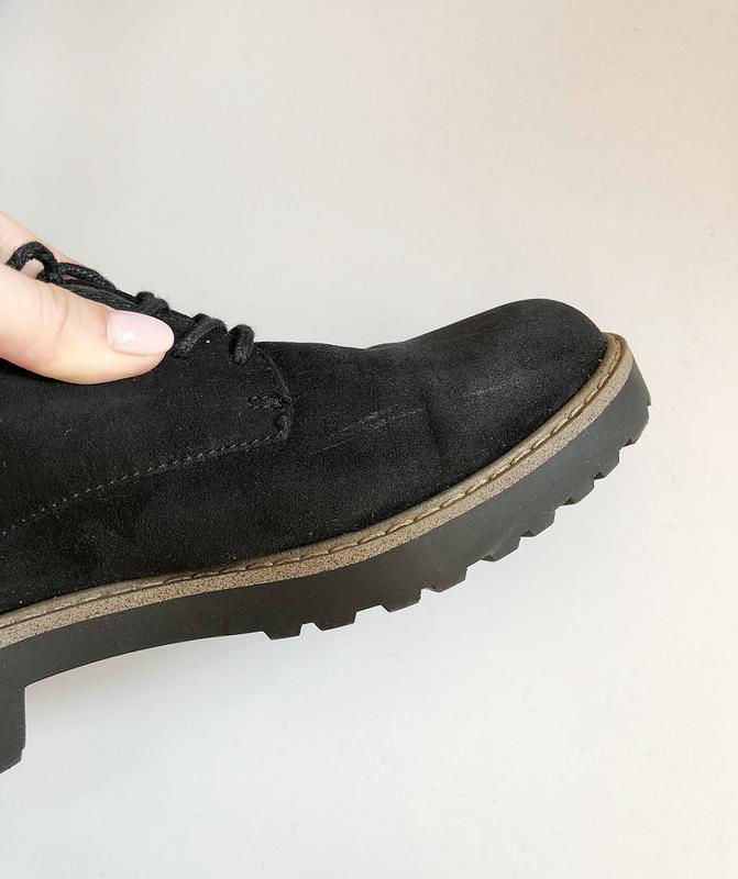 Обалденные натуральные замшевые туфли graceland (лоферы, дерби) - Фото 7