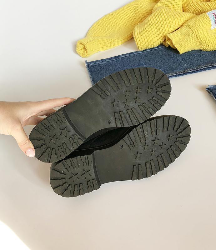Обалденные натуральные замшевые туфли graceland (лоферы, дерби) - Фото 8