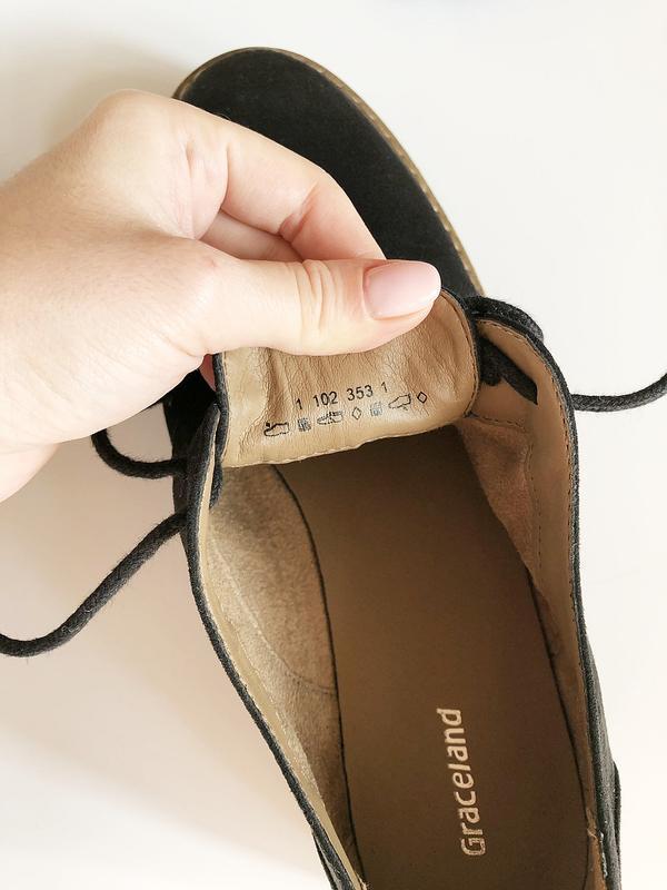 Обалденные натуральные замшевые туфли graceland (лоферы, дерби) - Фото 9
