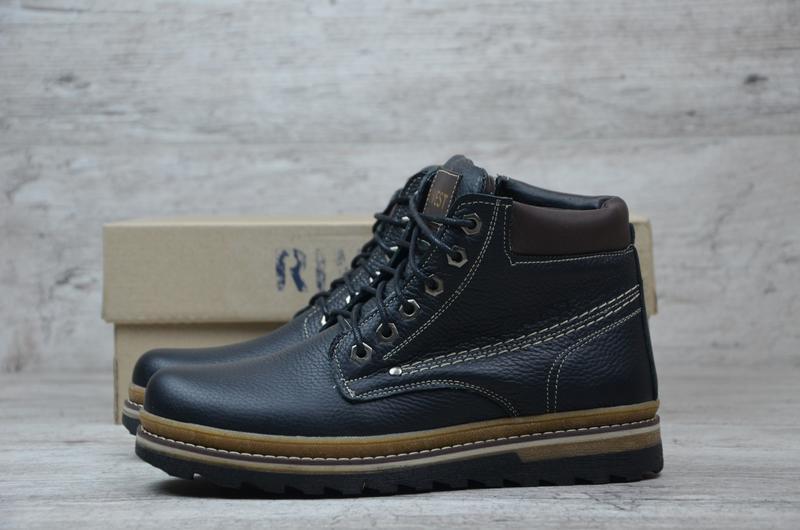Мужские кожаные ботинки - Фото 3