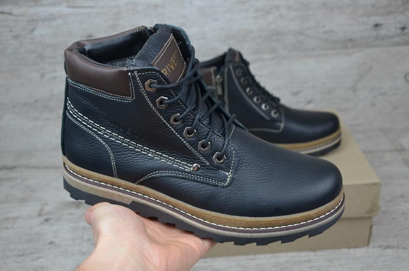 Мужские кожаные ботинки - Фото 5
