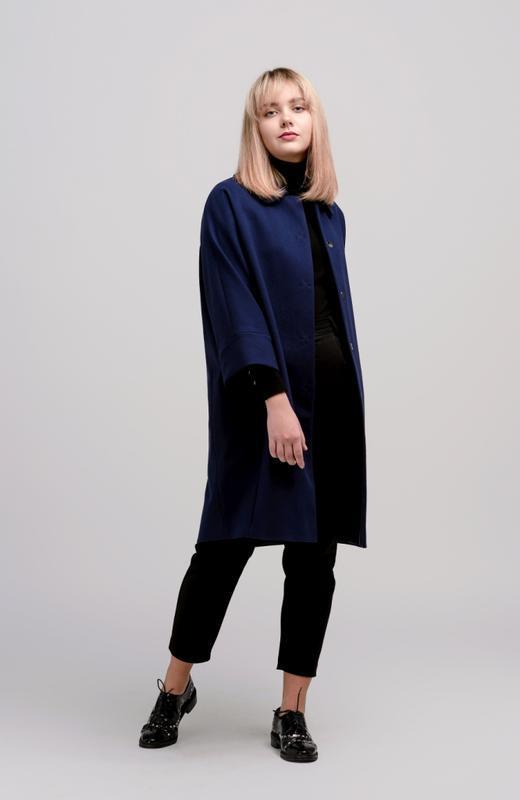 Осеннее женское пальто season бланш синего цвета