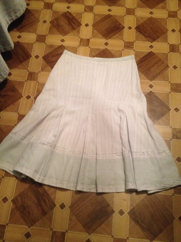 Льняная юбочка со складками