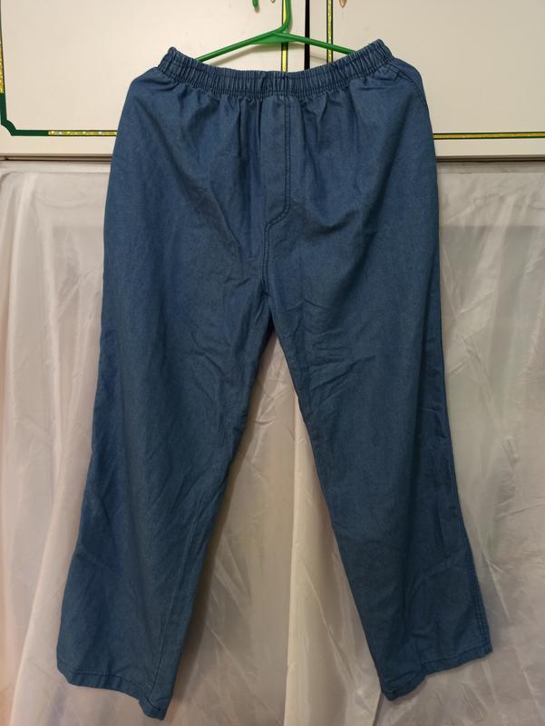 Мужские тонкие брюки штаны джинсы на резинке чоловічі штани джинс