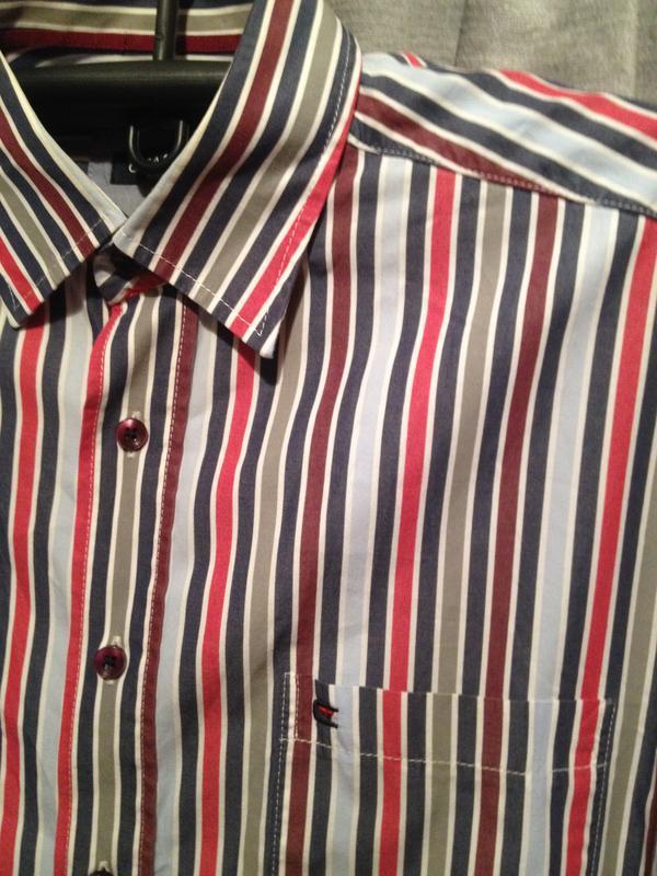 Хлопковая рубашка в полоску.