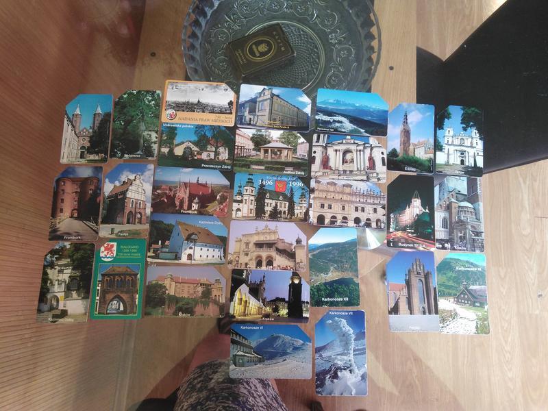 Пластиковые телефонные карточки. Польша. Архитектура и замки