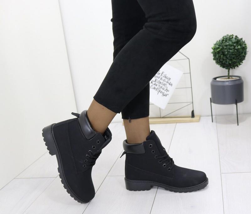 Новые шикарные женские осенние черные ботинки - Фото 3