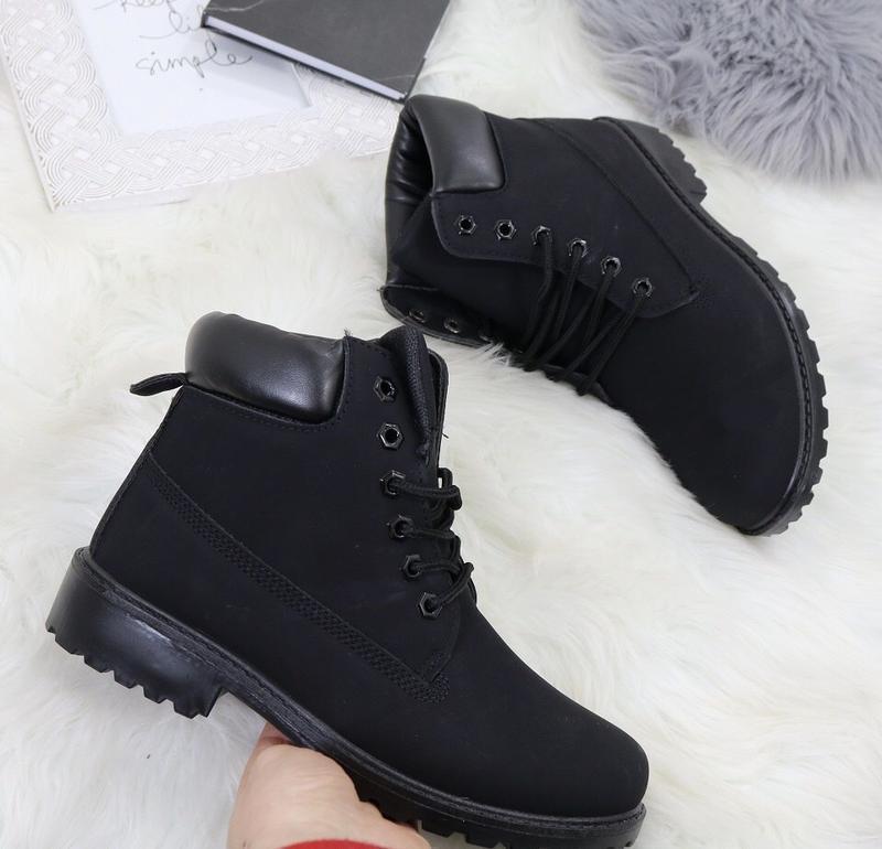 Новые шикарные женские осенние черные ботинки - Фото 6