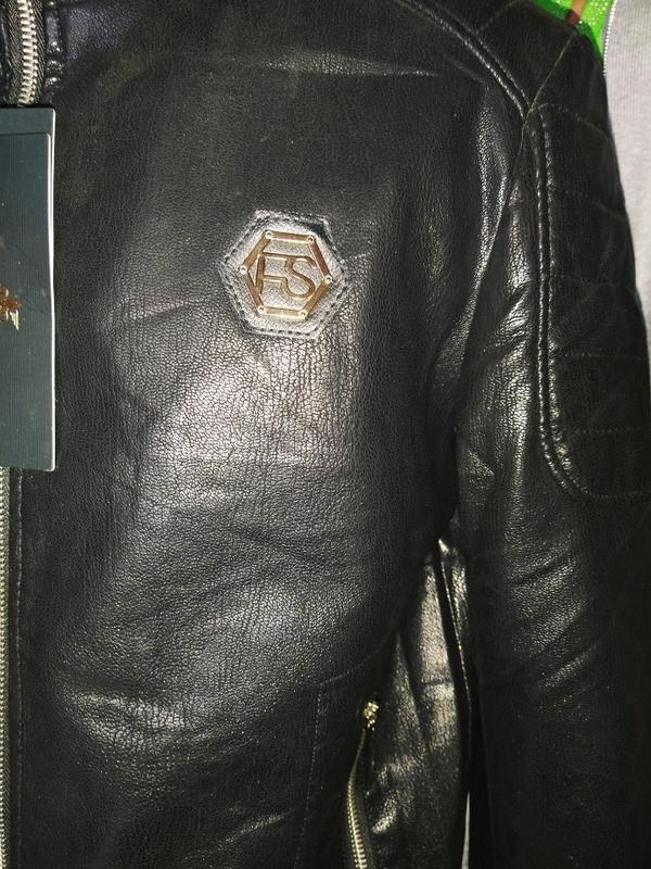 Мужская куртка кож зам - Фото 2