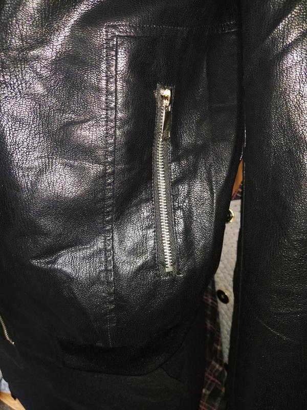 Мужская куртка кож зам - Фото 3