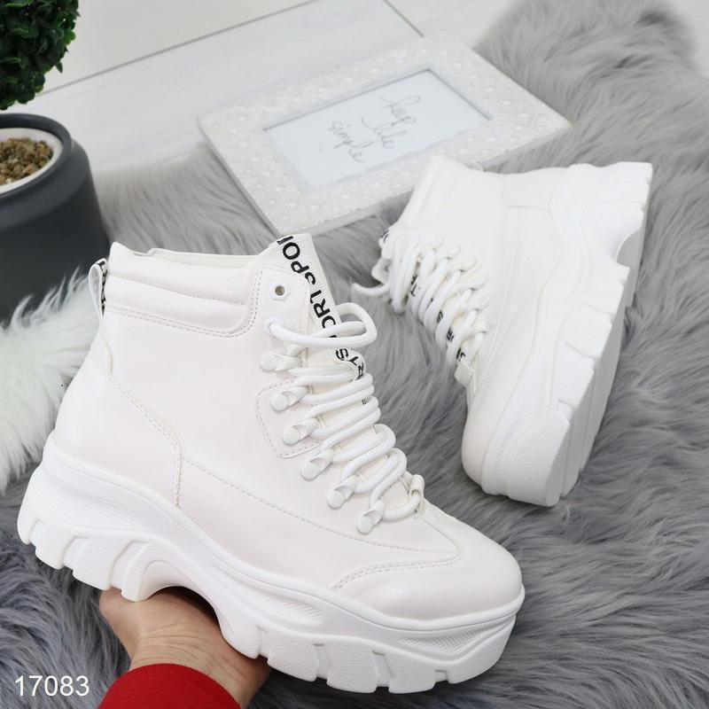 Высокие белые кроссы хит - Фото 2