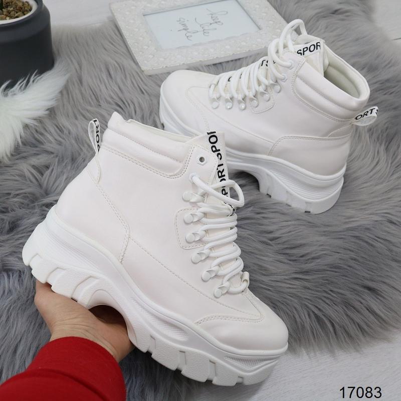 Высокие белые кроссы хит - Фото 4
