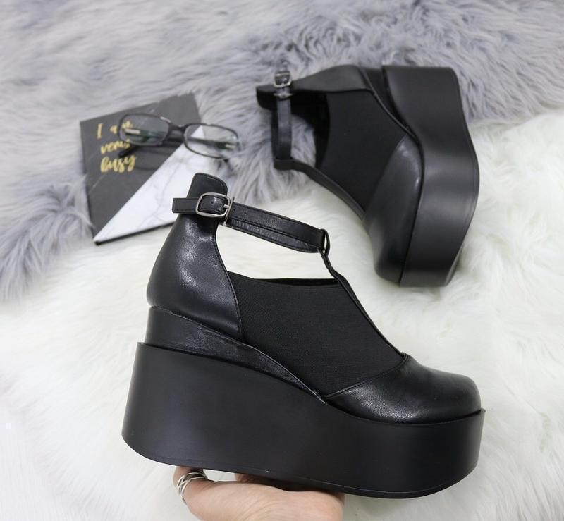 Новые шикарные женские черные туфли - Фото 4