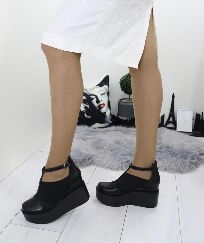 Новые шикарные женские черные туфли - Фото 5