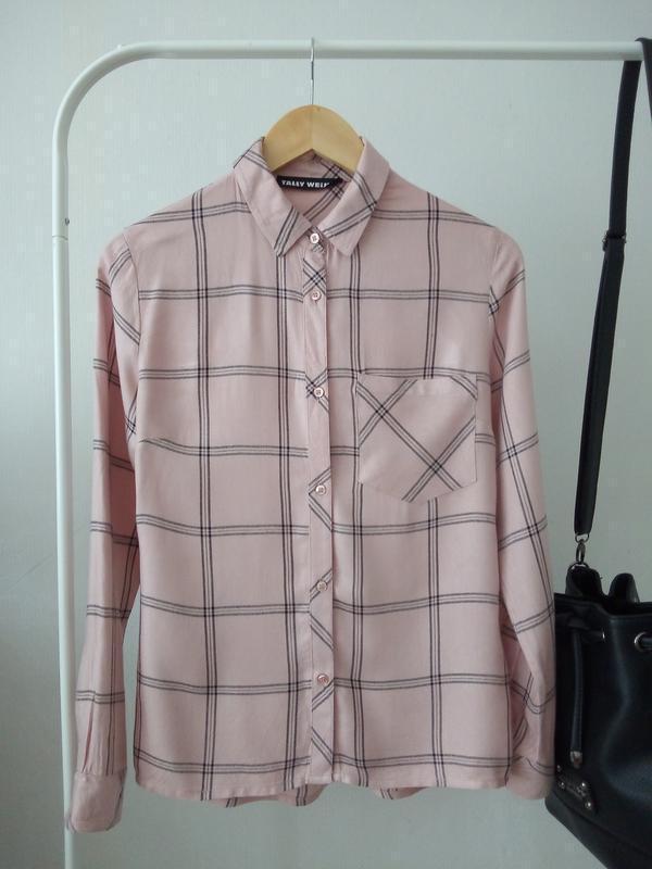 Рубашка в клетку от tally weijl