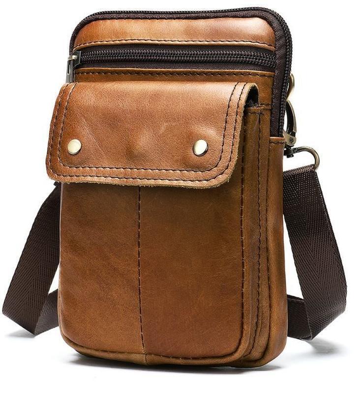 Стильная,кожаная мужская сумка на каждый день 14725