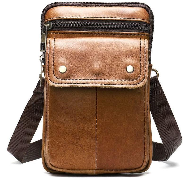 Стильная,кожаная мужская сумка на каждый день 14725 - Фото 2