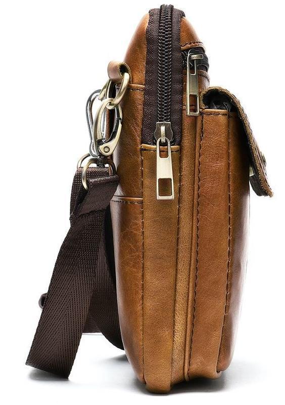 Стильная,кожаная мужская сумка на каждый день 14725 - Фото 3