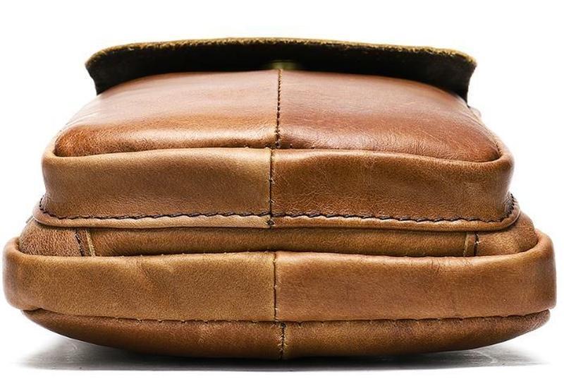 Стильная,кожаная мужская сумка на каждый день 14725 - Фото 4