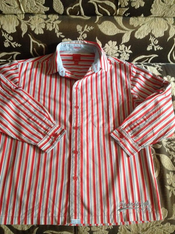 Коттоновая рубашка на выпуск для девочек на 9-10 лет