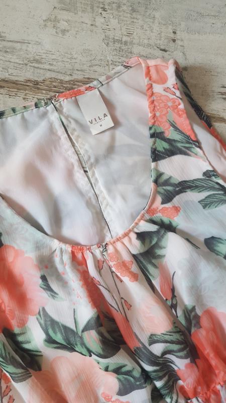 Асиметричное легкое платье - Фото 2