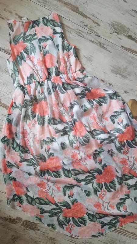 Асиметричное легкое платье - Фото 3
