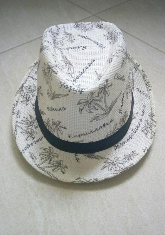 Женская шляпка,челентанка,летняя шляпа,светлая - Фото 2