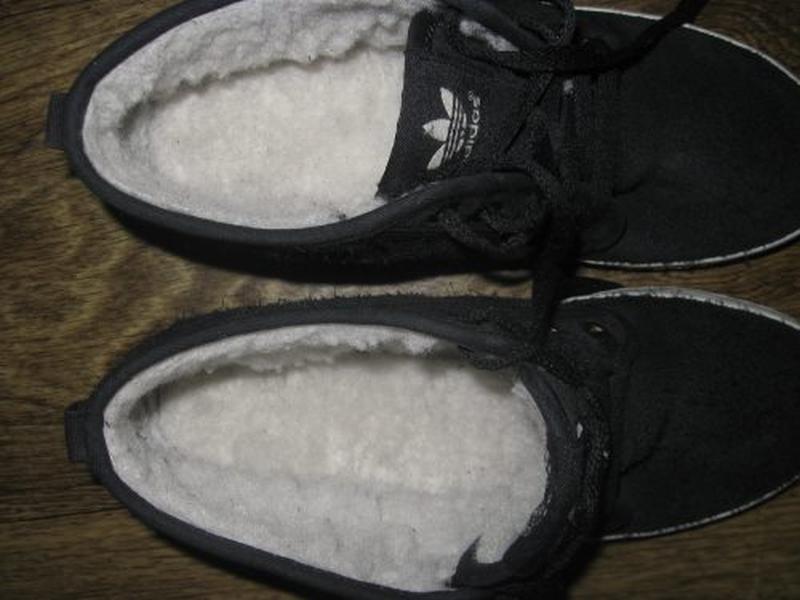 Утепленные замшевые кеды adidas  оригинал р.38 - Фото 5