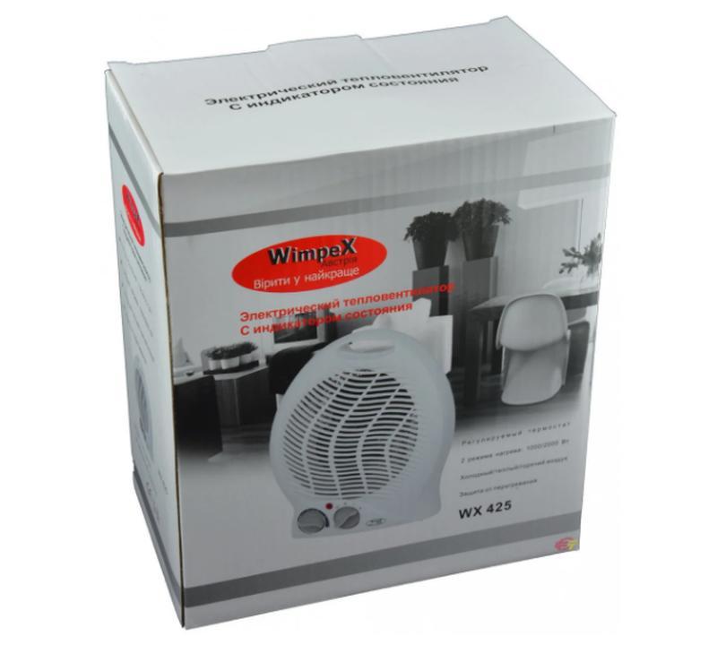 Мощный Тепловентилятор электрический обогреватель Wimpex WX-425 1 - Фото 2