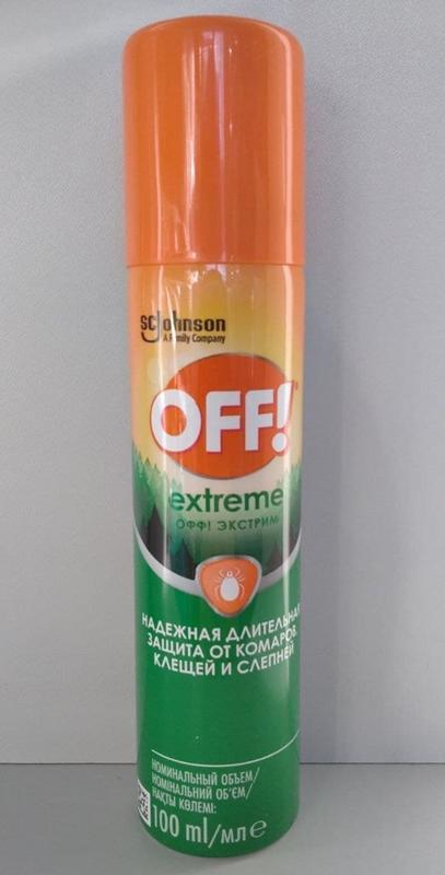 Off Еxtreme засіб від комарів, кліщів / средство от комаров