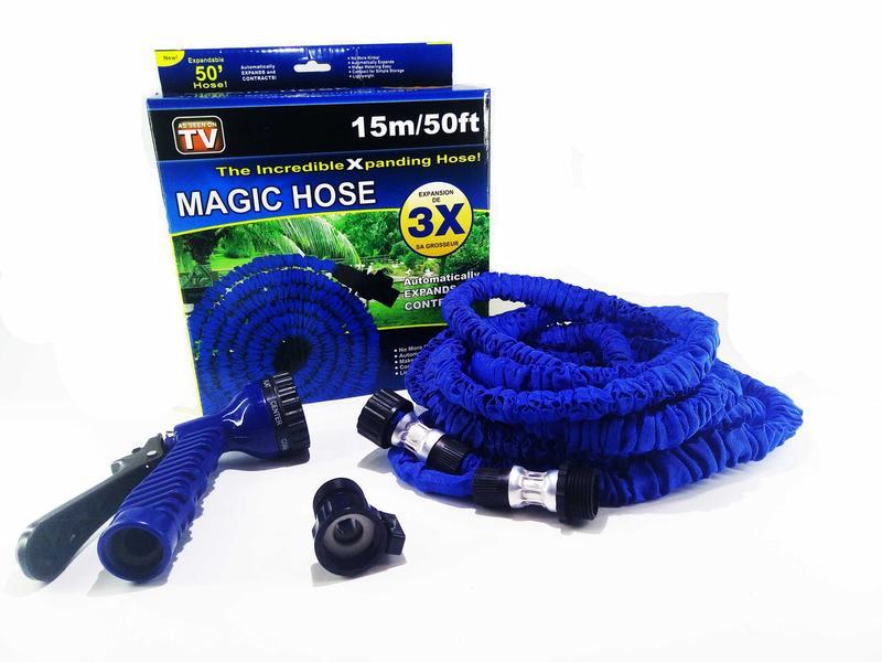 Шланг для полива X HOSE 15 м с распылителем, садовый шланг, полив