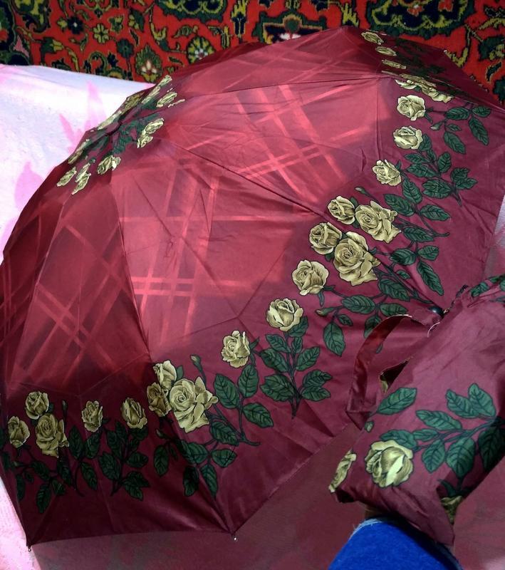 Компактный автомат зонт в дамскую сумочку. - Фото 4