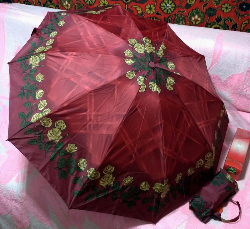 Компактный автомат зонт в дамскую сумочку. - Фото 7