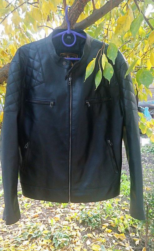 Косуха мужская кожаная курточка