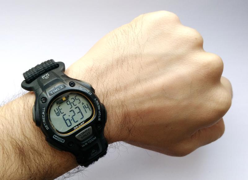 Timex ironman triathlon мужские часы из сша indiglo wr100m лип... - Фото 6