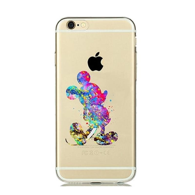 Силиконовый чехол Watercolor Art Color Mickey для iPhone 6&6s