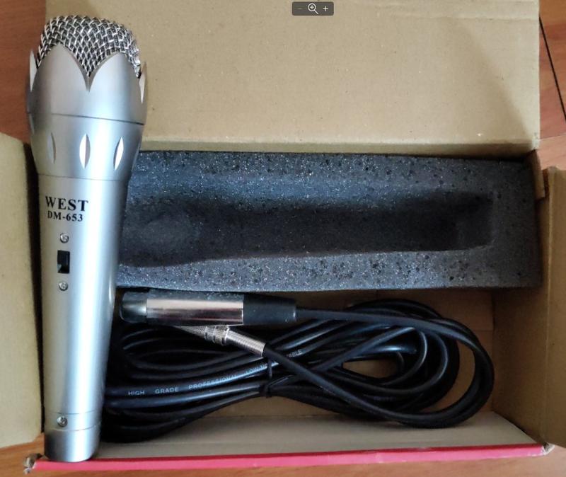 Микрофон для караоке WEST DM-653 -металл!