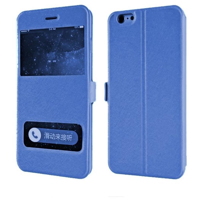 Чехол книжка с 2 вырезами Синяя для iPhone 6/6s